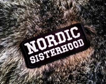 Nordic Sisterhood embroidered Heathen Patch Aesir Vanir Odin Norse Pagan Viking Biker Freya Thor Freyja Freyr Asatru Shieldmaiden