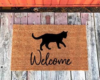 Cat Doormat, Cat Lover Gift, Cat Mat, Cat Gifts, Pet Gifts, Cat Door Mat, Per Lover Doormat, Custom Doormat, Paw Print Doormat