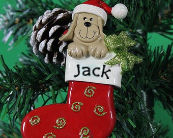 Personalised Pet Christmas Decoration - Dog Design
