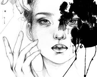 Inked A4 art print