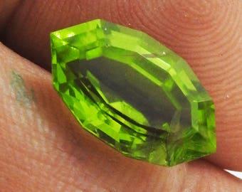 Peridot, Loose stone, Gemstones for Jewelry, Genuine Gemstone, Genuine Peridot,5.96 carat, Octagon Marquise shape, Loose Peridot, 15.8x9 mm