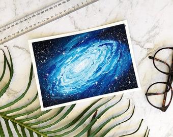 Nebula galaxy hand painted original watercolor painting by artbybee7