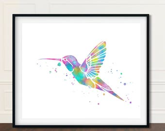 Hummingbird, Hummingbird Print, Hummingbird Artwork, Hummingbird Painting, Hummingbird Wall Art, Hummingbird Art