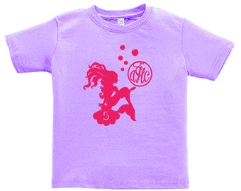 Personalized Mermaid Birthday Shirt - any age and name - pick your colors!