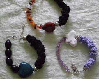 Cotton bracelets and ceramics