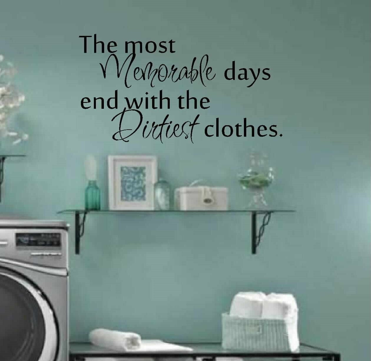 Laundry Room Wall Decor Stickers Prepossessing Laundry Room Decor Wall Art Matt Vinyl Decal Laundry Review