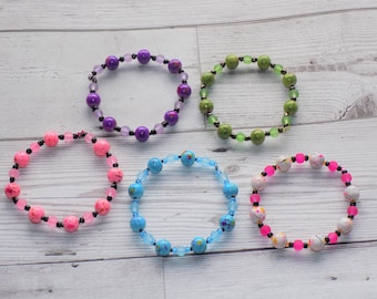 Paint Splash, Brightly Beaded Bracelets