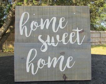 Home Sweet Home sign, Home sweet home decor, rustic wall sign, rustic sign, wood sign, rustic home decor, rustic wall decor, country decor