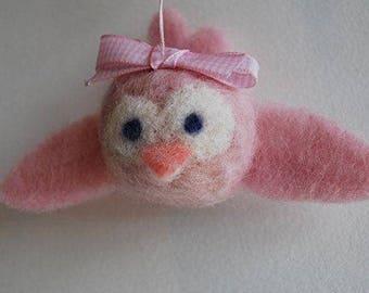 Mobilaria Baby Pink Bird Needle Felting Kit from De Witte Engel