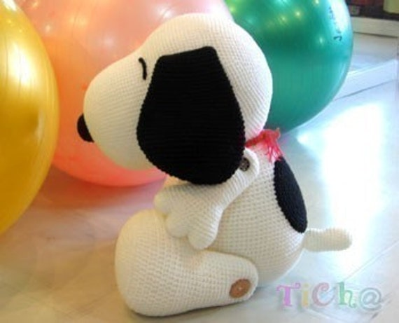 Amigurumi Patterns Snoopy : Snoopy dog 27 inches pdf amigurumi crochet pattern