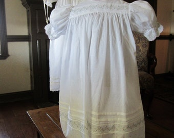 Flower Girl Dress, French Handsewn, size 2 to 3 years,#711