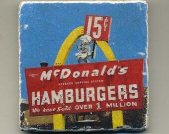 McDonald's Hamburgers - Museum - Original Coaster