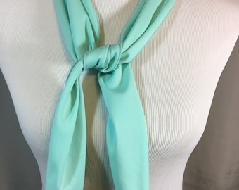 Light Turquoise Long Scarf 44 Inches by 5.25 Inches, Long Washable Turquoise Neck Scarf or Belt Previously 12 Dollars ON SALE
