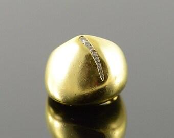 18k Designer 0.10 CTW Diamond Freeform Ring Gold