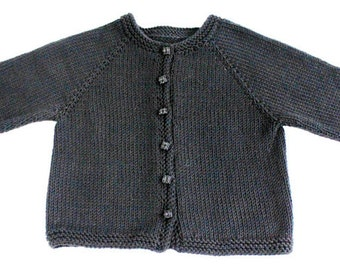 PATTERN - Basic Top Down Child's Cardigan Size 0-6 Mo, 6-12 Mo, 2-3 Years Photo Tutorial
