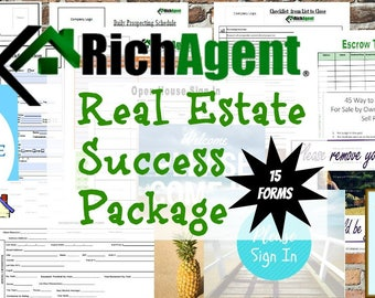 Everything Real Estate Success Package - 15 Forms   Realtor   Real Estate  Marketing   Open House   Real Estate Planner   Real Estate Agent