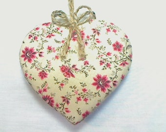 Large Cranberry Red Heart Ornament   Bridal/Wedding   Party Favor   Handmade Gift   Valentine's Day   Tree Ornament   Heart Decoration   #2