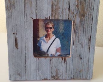 """Rustic Picture Frame: """"Blue One"""" from RusticAndRawFrames // Picture Frames, Rustic Picture Frames, Rustic Frames, Picture Frame, Frames"""