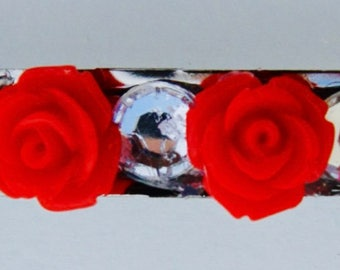 Hand Decorated Floral Barrettes