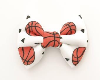 The Basketball Handmade Bow (Handmade Bow / Bow Tie / or Headband)