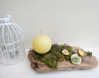 The spring candle holder centrepiece spring slow - deco Center table - gift idea