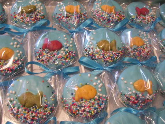 Fish Bowl Oreo Pop Or Cat In The Hat Theme Marshmallow Pops