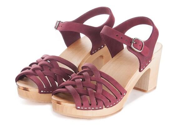 clog shoes Sandals sandals pink PINK Kulikstyle Swedish Shoes DEEP clog clogs clog women sandalen sandal Leather sweden Clogs 0R17xx