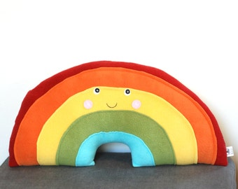 Rainbow Pillow, Rainbow Baby,  Nursery  Decor, Kawaii Rainbow, Rainbow Stuffie