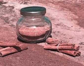 Cinnamon Stick Faceted Round Jar 6 oz.
