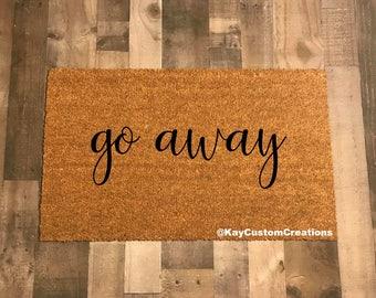 Go Away Doormat