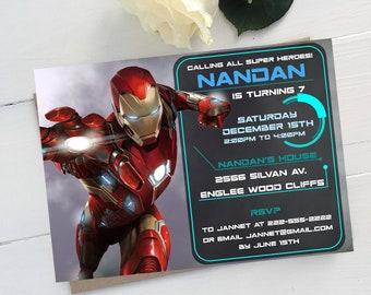 Iron man birthday Etsy