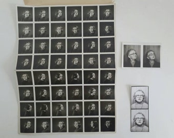Rare Uncut Set of Polyfoto Black and White Portraits of a Girl