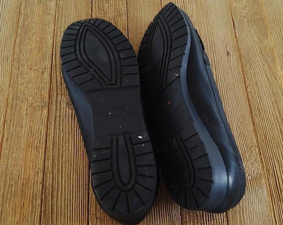 Kiltie Flats On in Black Loafers Cuddlers Slip Brazil Made 90s Tassel Casual Minimalist Leather Size Cobbie 10 AqCvwxp