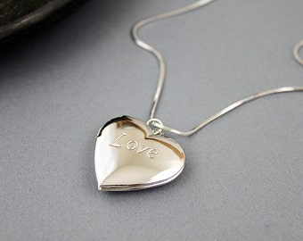 Love Charm Necklace Dainty and Stylish Necklace Silver Love Charm Necklace