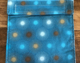 Blue Starbursts - Reusable Snack & Sandwich Bags