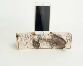 Docking Station for iPhone, iPhone dock, iPhone Charger, iPhone Charging Station, iPhone birch dock, wood iPhone dock/ Birch  - No. 1006