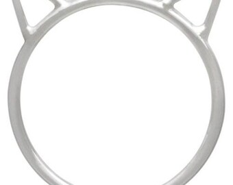 Finger Rings,  Large Cat Face Ring, Sterling Silver,  Size 7 - 1 Pc Wholesale Price (12757)/1