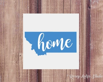 Montana Home State Decal,decal,laptop,decals,home,state,home sweet home,home state,state,states,united states