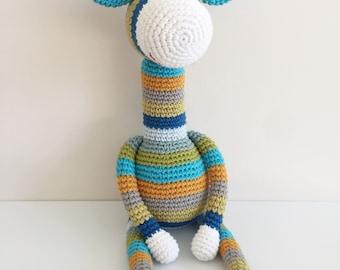 Multicoloured Crochet/ amigurumi giraffe