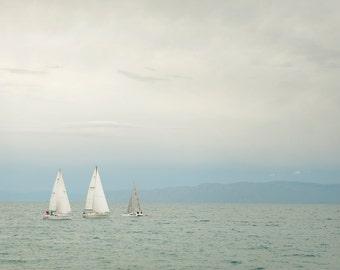 Three Sailboats-  Landscape Utah Photography 12x8