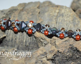 Shades of Autumn beaded bracelet