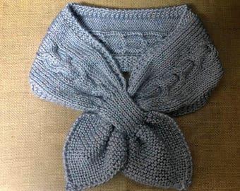 Scarf, Knit bow scarf