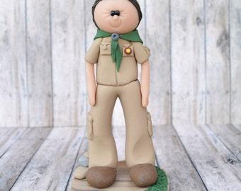 Boy Scout Cake topper, scout cake topper, personalized boy scout cake topper, boy scout gift, boy scout ornament, Boy Scouts of America