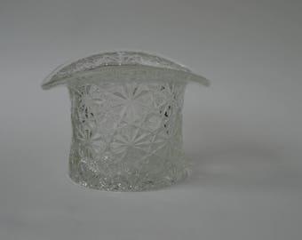 Fenton cut glass crystal hat vase