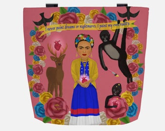 Pink Frida Inspired (Everyday Use) Tote Bag