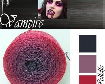 Vampire* Merino silk Gradient Yarn hand dyed - Lace weight