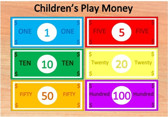 Simplicity image pertaining to toy money printable
