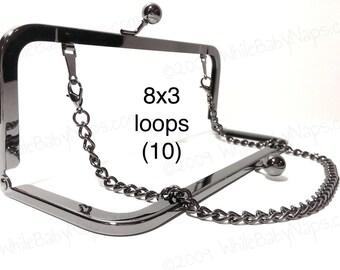 10% OFF 10 Duskcoat Gunmetal (TM) 8x3 with LOOPS clutch purse frames
