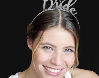 Bachelorette Favor - Bride, Bachelorette Party Supplies, Headband, Bride Tiara, Favors, Bride headband, Bachelorette Party headbands