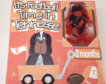 UT's Baby Smokey - Custom Handmade - paper piecing, kit or finished page!